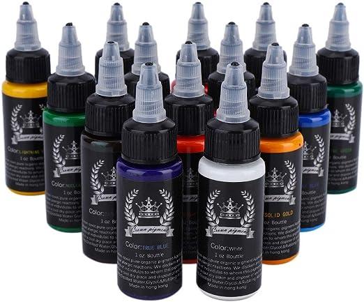 Nannday Kit de tintas para Tatuajes, 14 Colores, Maquillaje ...