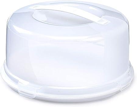 Whitefurze – Caja para Tartas, plástico, Color Blanco: Amazon.es: Hogar