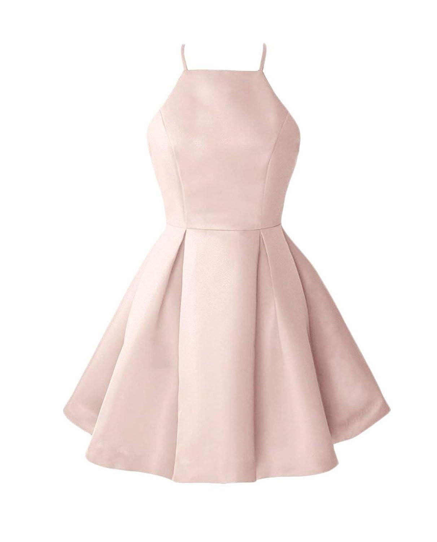 Bbluesh Pink WHZZ Womens ALine Homecoming Dresses Mini Short Cocktail Party Dresses