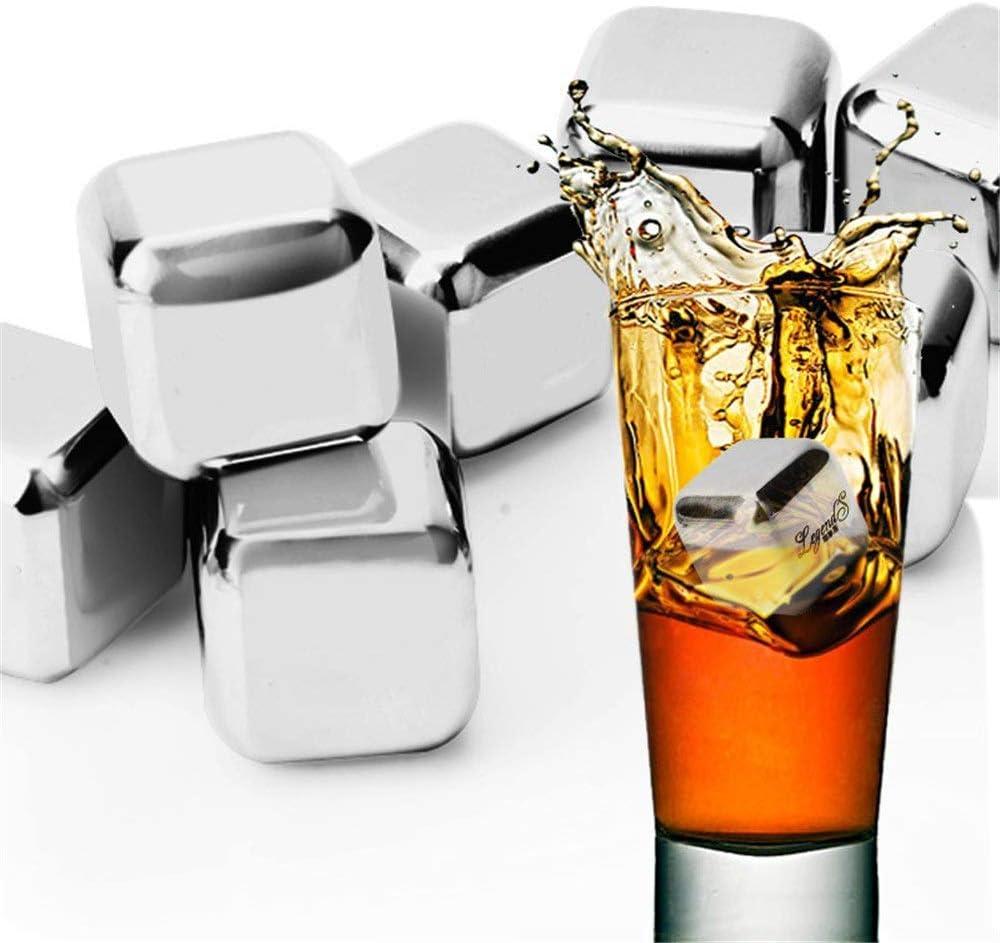 QZH Almacenamiento de Acero Inoxidable 304 de congelación rápida, Bebida de Vino, Whisky, Grano de Hielo con Caja de Cubitos de Hielo, Suministros creativos, Regalo de cumpleaños (Color de