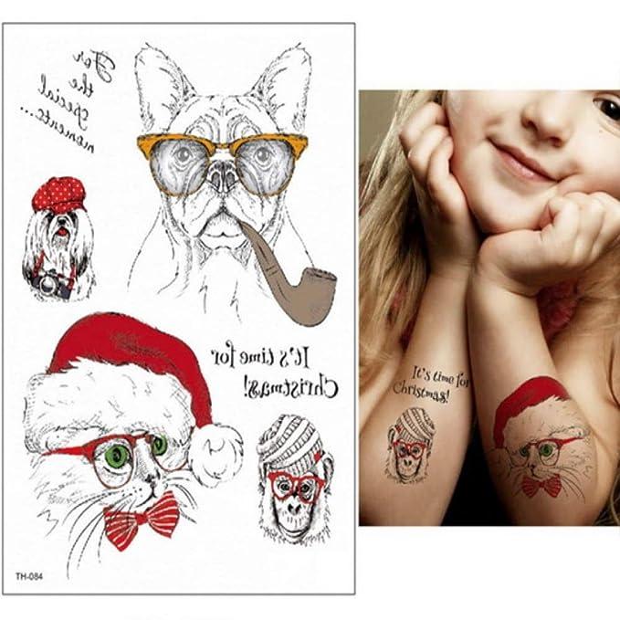 adgkitb 3 Piezas Hoja calcomanía Impermeable Tatuaje Temporal ...