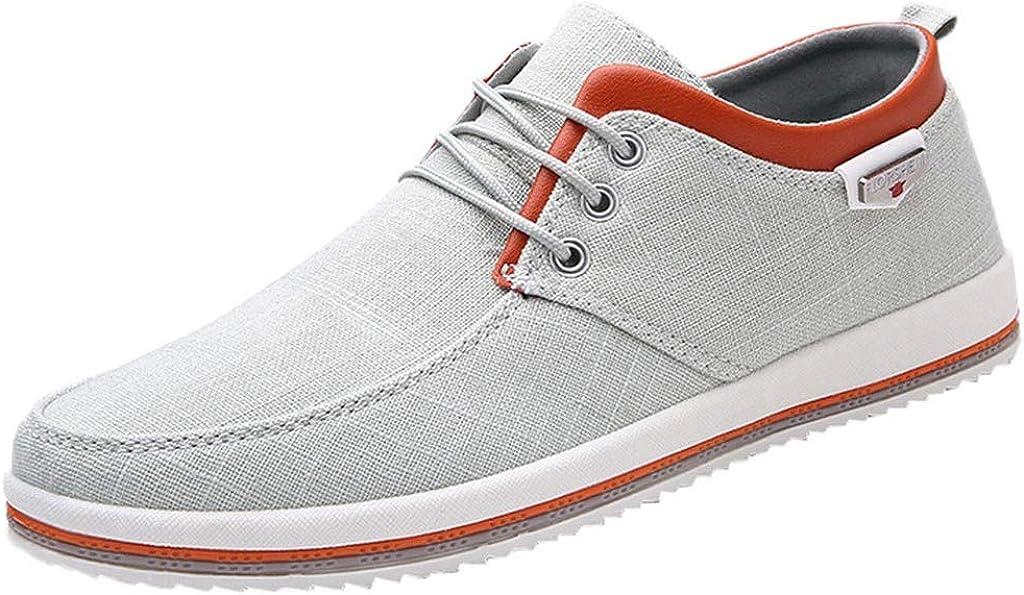 Jodier Zapatillas Canvas de Lona Unisex Mujer Hombre Estilo Casual y Deportivo Color Blanco Zapatillas de Deporte Calzado de Running para Estudiante Zapatillas de Entrenamiento para Hombre