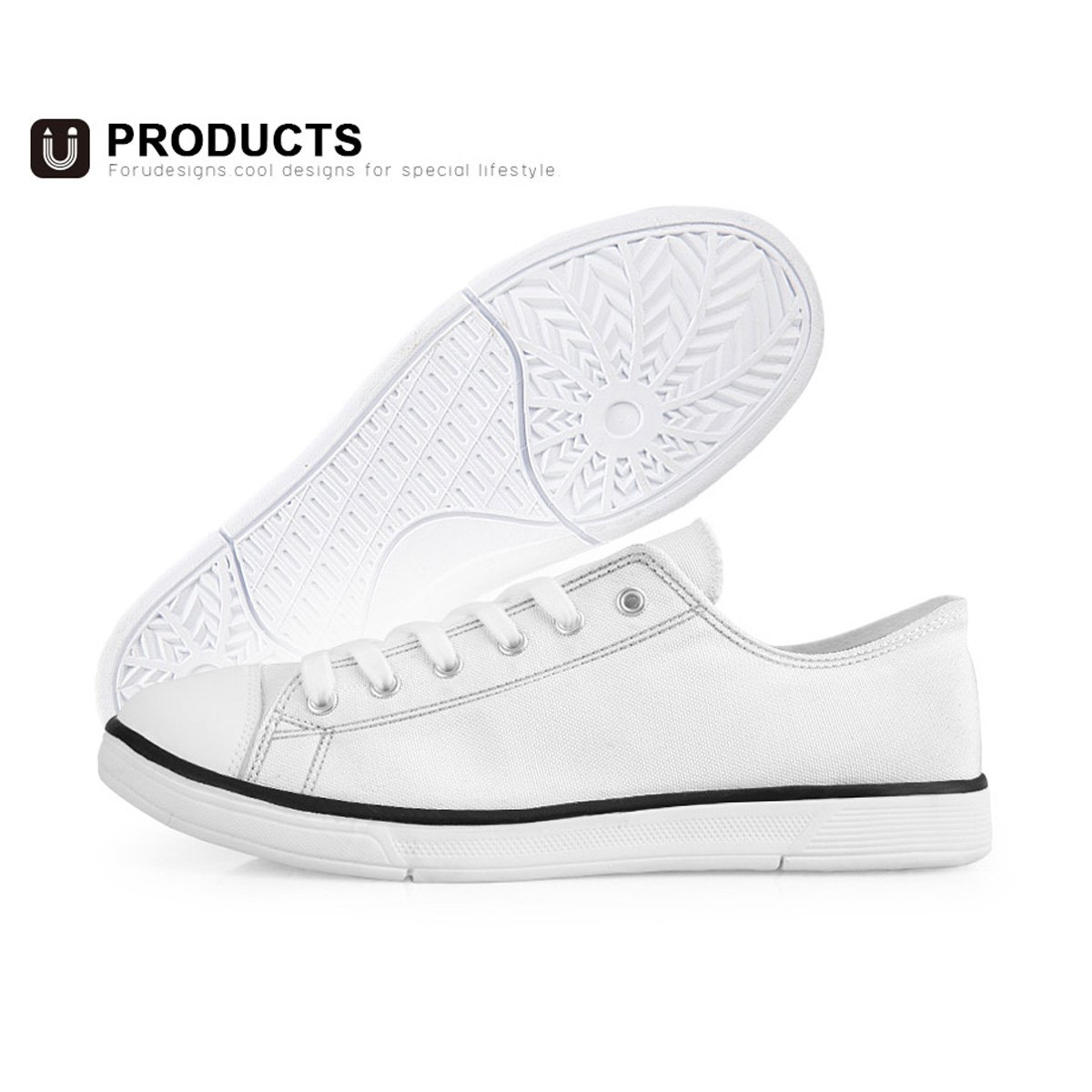 Freewander Comfortable Rubber Sole Sneaker Low Top Shoes