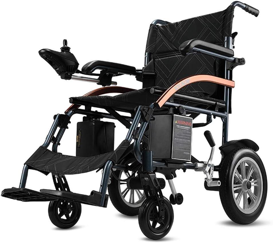 Jia He silla de ruedas Silla de ruedas eléctrica, 18kg plegable, pequeña motocicleta portátil de viaje, Ancianos, discapacitados, herramientas de viaje de ahorro de vida automático e inteligente de 20