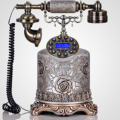 LPY-Retro Craft Home Desk Phone Temple Bell Stand Style Caller ID Personalized Bedroom, Living Room Decorations, With Push Buttons (Temple Pedestal)