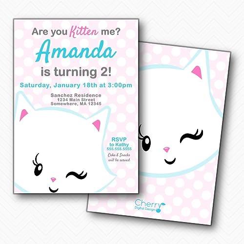 Amazon Are You Kitten Me Polka Dot Cat Girl Birthday Party