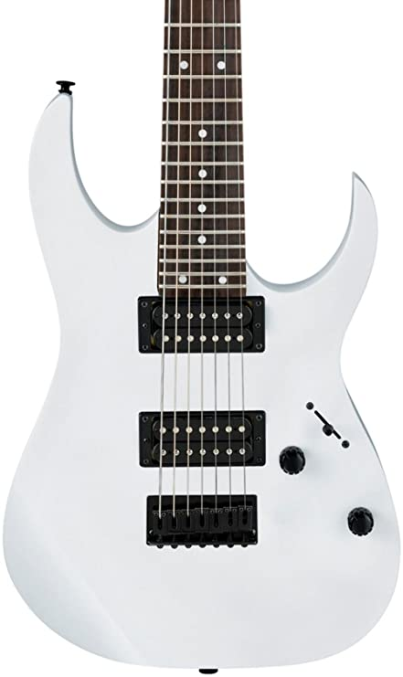 Ibanez GRG 7 String Solid-Body Electric Guitar Right, White Full GRG7221WH