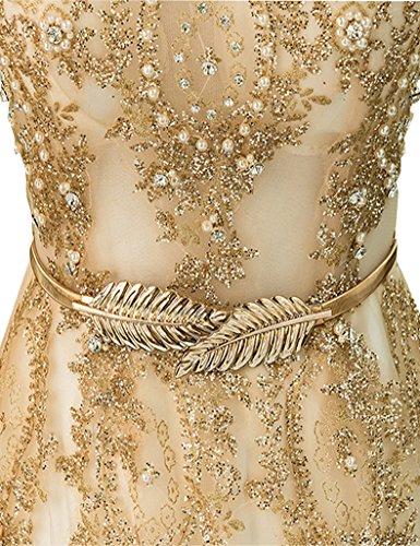 Lange Partei Spitze Champagner kleider Stickerei Abendkleid Erosebridal abschlussball vTOntwx