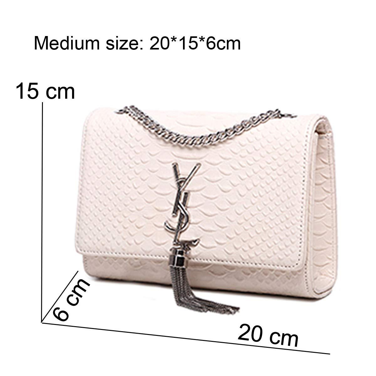 5ccec7a725 SHRJJ 2018 Fashion One Shoulder Crossbody Bags High Quality Leather  Shoulder Bag Large Capacity Room Baby Diaper Bag for Women (Medium -20   15    6CM