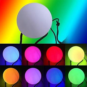 LED Poi,NHsunray Glow Thrown Bolas Multicolor Pelota para ...