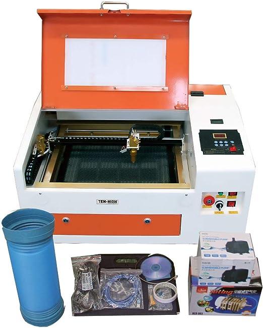 TEN-HIGHCO2レーザー彫刻機DIY加工機300mm*400mm40W110V非金属対応電動昇降USBポート付き必要な付属品一式フルセット