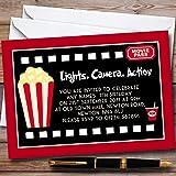 10 x Movie Film Night Cinema Personalized Childrens Birthday Party Invitations