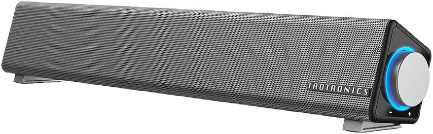 TaoTronics Computer Speakers, Wired Computer Sound Bar, Stereo USB Powered Mini Soundbar Speaker for PC Tablets Desktop Cellphone Laptop(Upgrade)