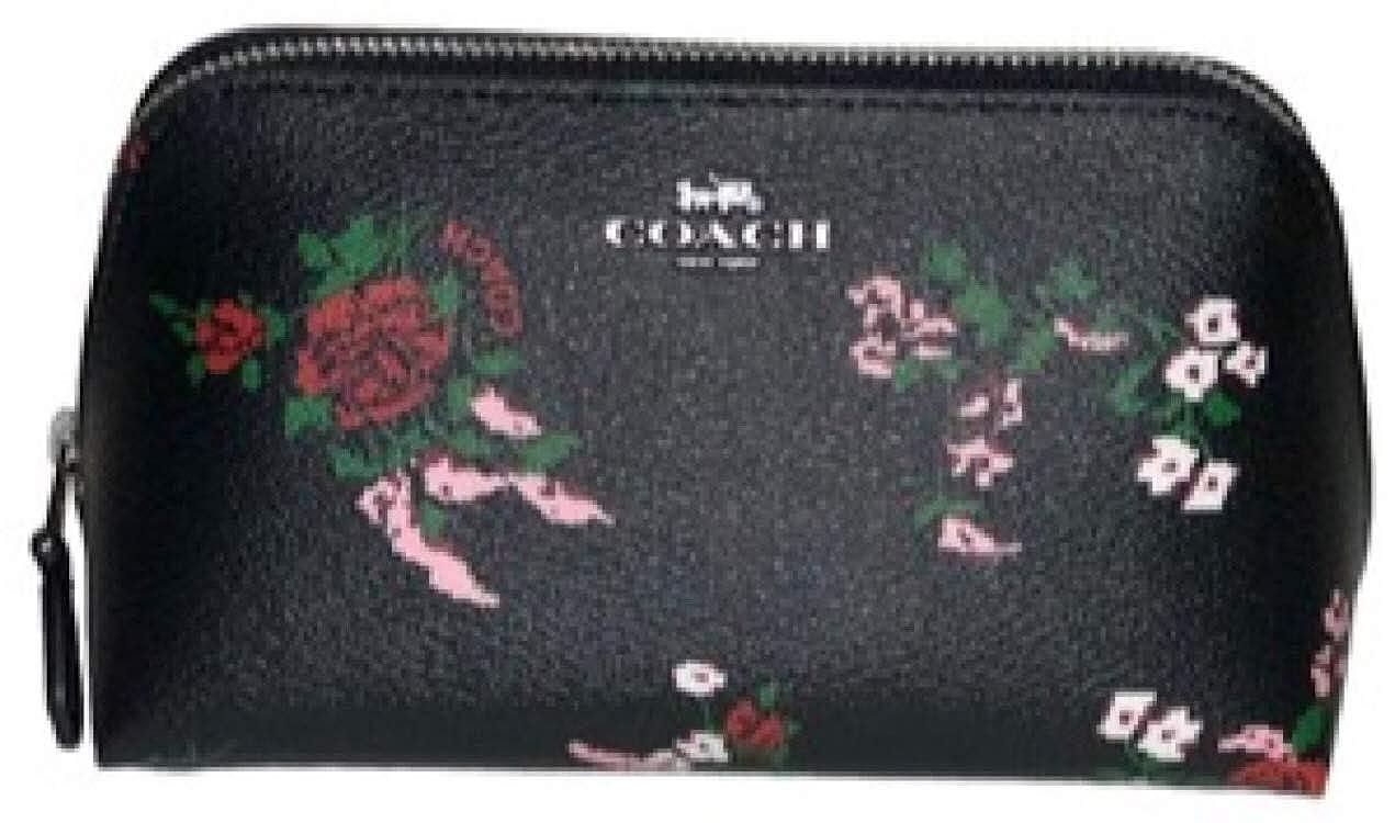 Coach Cosmetic Case Make Up Case F26226 Color Black Multi
