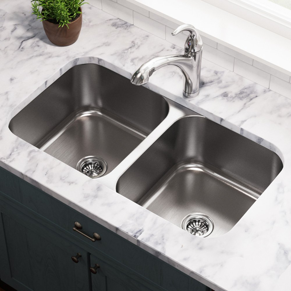 502a 16 gauge undermount equal double bowl stainless steel kitchen 502a 16 gauge undermount equal double bowl stainless steel kitchen sink amazon workwithnaturefo