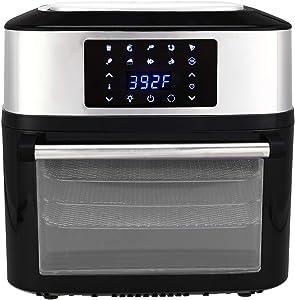 KAFO-1800E-D2 US 120V 16.91Quarts / 16L Air Fryer 1800W Black - Air Fryers that Cook, Crisp, Roast, Broil, Bake, Reheat and Dehydrate