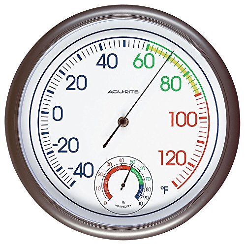 Image of AcuRite 02362 11-Inch Thermometer and Hygrometer