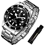 STONE メンズ 腕時計 日本製クォーツ スケルトン クォーツ アナログ表示 ウォッチ ステンレス シンプル 男性 時計 クロノグラフ 日付表示
