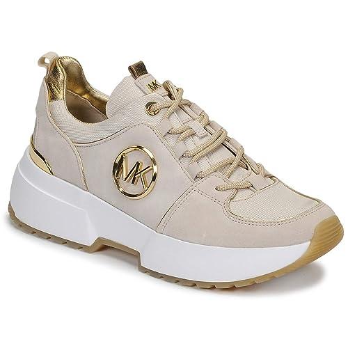 8c01b693fa69e Michael Kors Sneaker Cosmo Trainer Suede LT Cream Taglia 37 - Colore Avorio