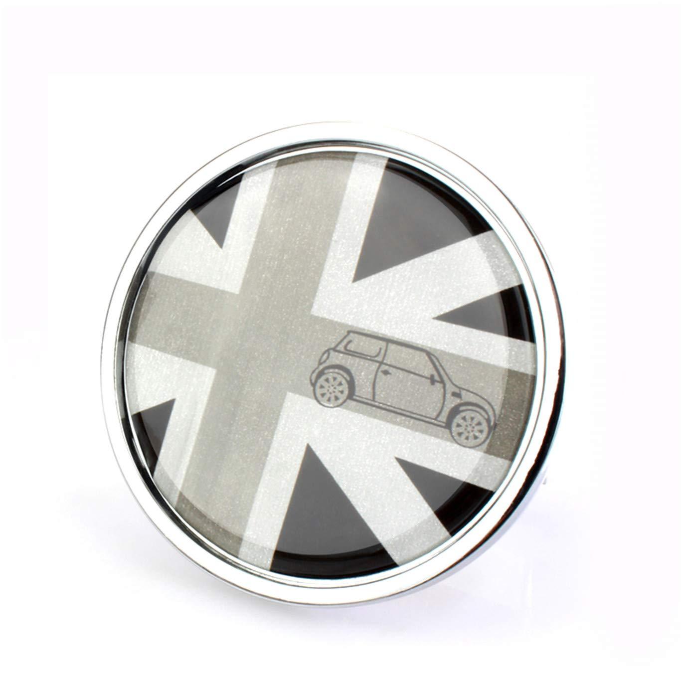 HDX Badge en m/étal pour Capot Avant et Grille de Grille pour Mini Cooper F54 F55 F56 F57 F60 R55 R56 R57 R58 R59 R60 R61 Hardtop Clubman Hatchback Covertible Roadster Countryman Paceman