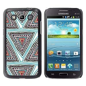 TopCaseStore / la caja del caucho duro de la cubierta de protección de la piel - Hand Shape Pattern Teal Deep - Samsung Galaxy Win I8550 I8552 Grand Quattro