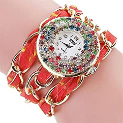 Quartz Wrist Watch, Winhurn Fashion Women Vintage Crystal Bracelet Rhinestone (A)