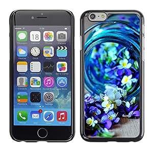 Cubierta de la caja de protección la piel dura para el Apple iPhone 6PLUS (5.5) - blue spring blooming nature purple
