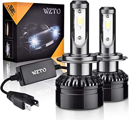 H7 LED, WZTO 2pcs Lampara H7 LED 12000LM Faros Delanteros 60W 12 ...