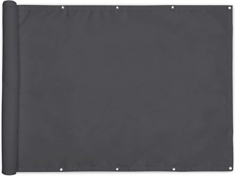 Bianco con Occhielli Impermeabile Sol Royal Frangivista e Telo frangivento per balconi SolVision PB2 90x300 cm Schermo Privacy