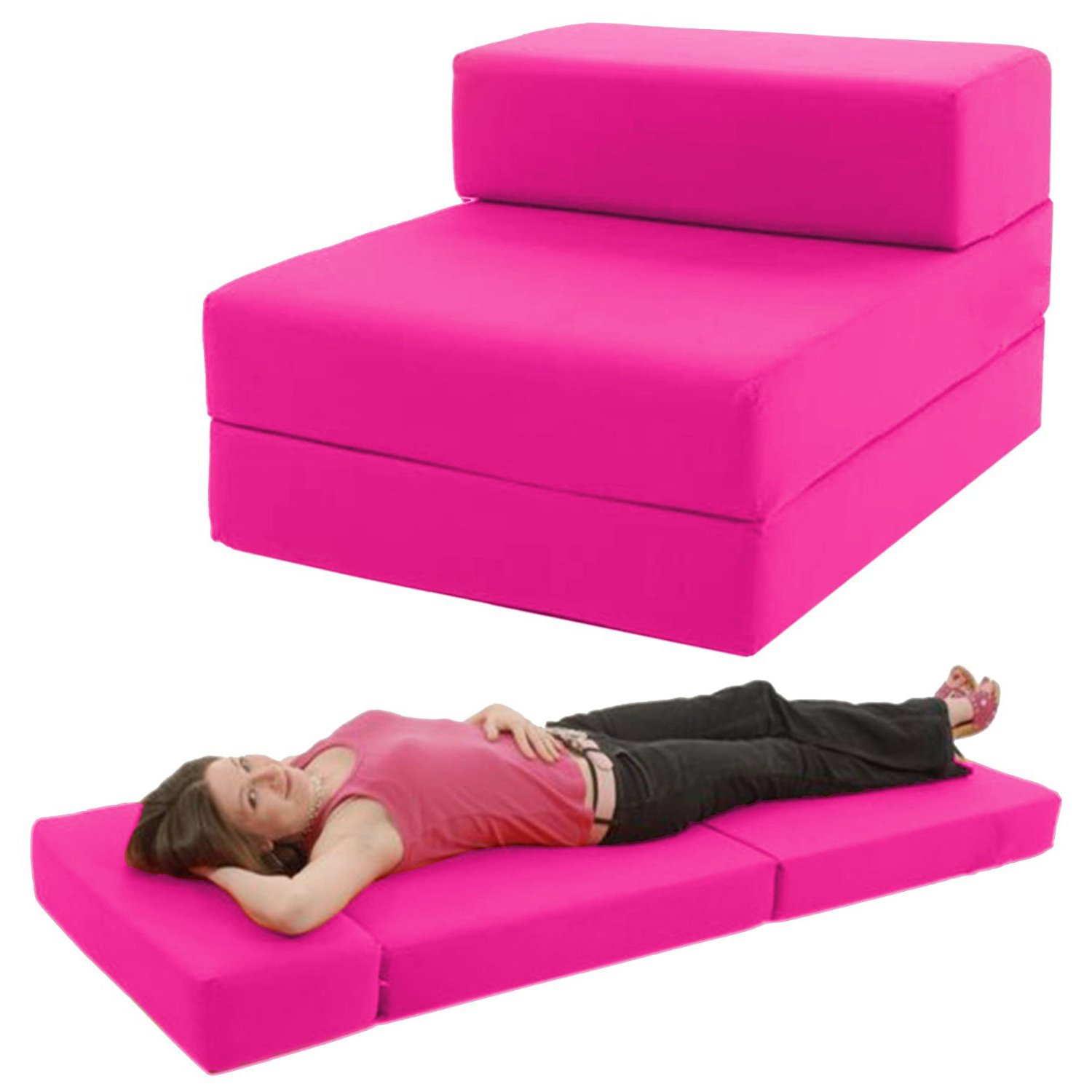 STANDARD CHAIRBED HOT PINK Single Chairbed Chair Z Bed Chairbed