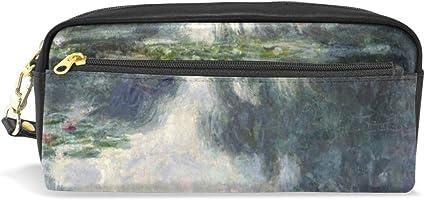 Claude Monet - Estuche para lápices y pinturas al óleo, con doble cremallera, tamaño grande, para guardar cosméticos y artículos de papelería, para niñas y niños: Amazon.es: Oficina y papelería
