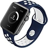 [Style A] Yincol Apple Watch Armband Series 1 Series 2, Fashion Weiches Silikon Sportarmband Ersatzarmband Wrist Band für iwatch 1 iwatch 2 Uhr Verstellbar