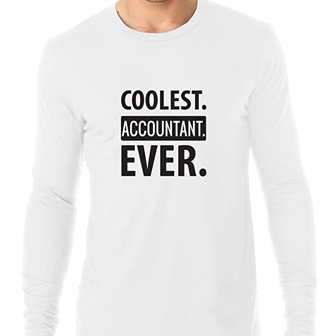 Hollywood Thread Trendy Coolest. Accountant. Ever. Men's Long Sleeve T-Shirt