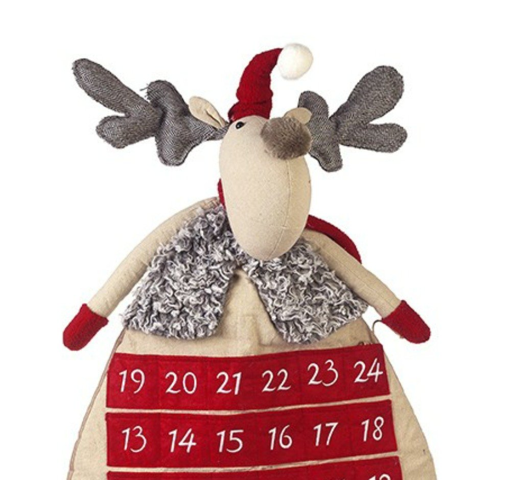 Shabby Chic Large Reindeer Fabric Advent Calendar by Heaven Sends
