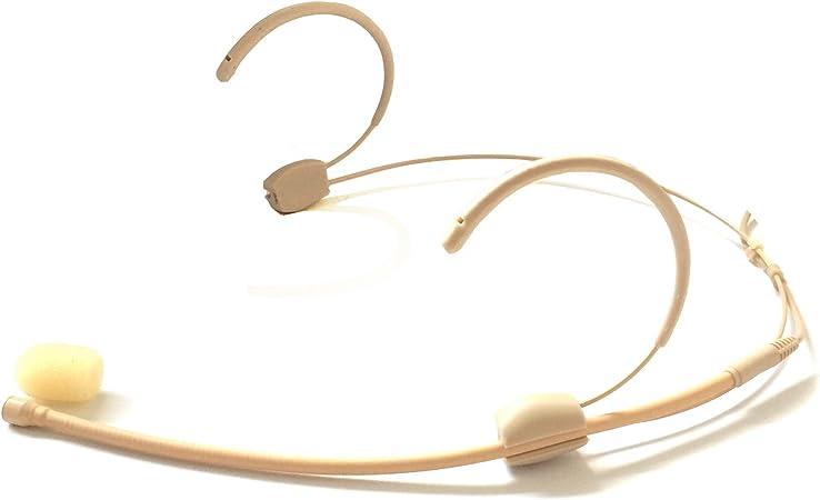 Microdot 4015 Headset Head-mounted Headworn Microphone For SENNHEISER Wireless System 3.5mm Screw Locking Plug Omidirectional Mic