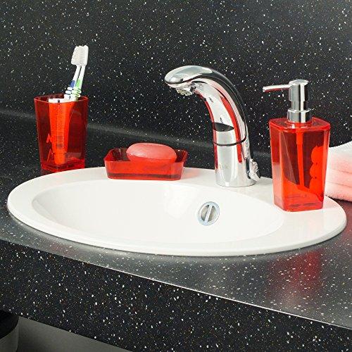 Kela 390053 kristall juego de accesorios para ba o 4 for Accesorios bano rojo