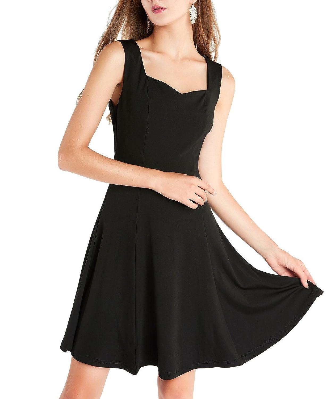 Timormode Damen Kurz Elegant Vintage Retro Kleid Audrey Hepburn Style  Knielang Abendkleid: Amazon.de: Bekleidung