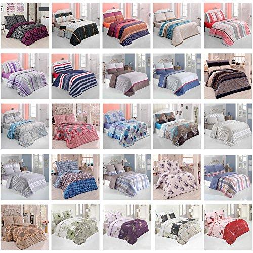 Bettwäsche Bettgarnitur Baumwolle Renforce mit Reißverschluss 5 Größen und vielen Farben Öko-Tex (50x70 cm, 2er set Kissenhülle, Design 5)