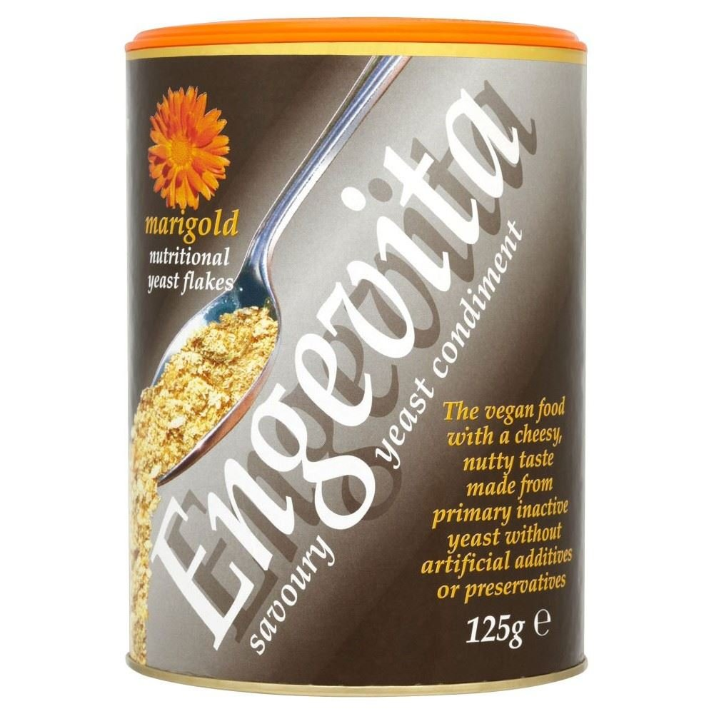 Marigold Engevita Nutritional Yeast Flakes (125g) - Pack of 2 by Marigold (Tins)
