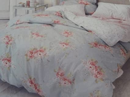 Simply Shabby Chic Hydrangea Duvet Cover Set Blue Floral Twin Size Bedding