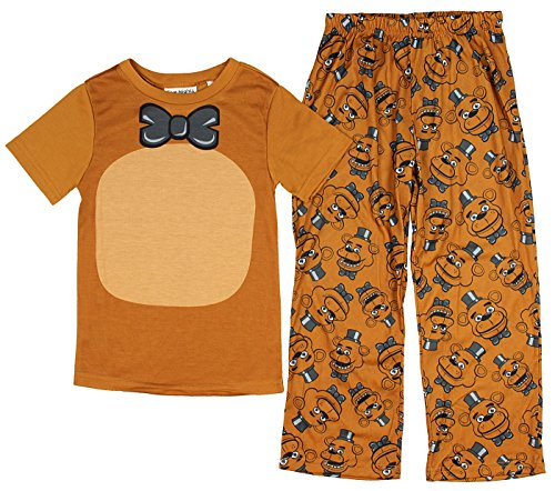 Five Nights at Freddys Costume Boys Girls 5 Nights Pajama Set-Freddy Shirt and Pants (S)]()