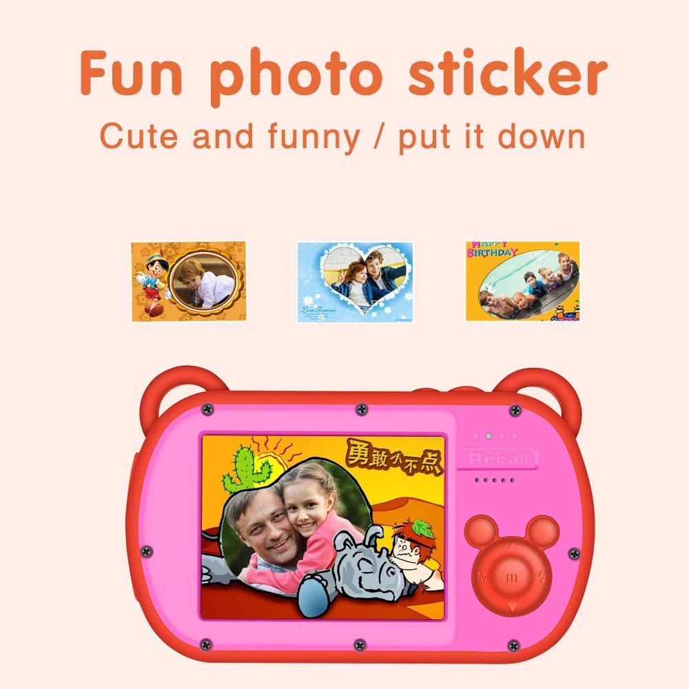 Underwater Camera for Kids, HD 1080P Waterproof Kids Camera, Video Recorder Action Preschool Camera, 8X Digital Zoom Camera with Flash & Microphone Sticker by GordVE (Image #5)
