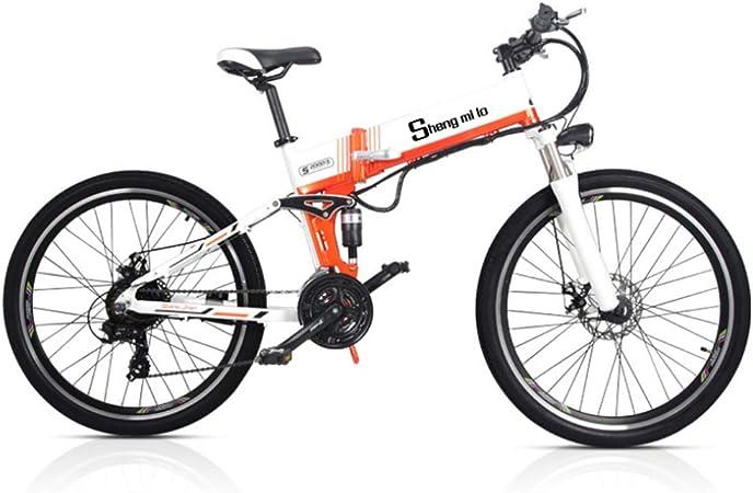 LSXX Bicicleta de montaña eléctrica de Grasa, 26inches Plegable ...