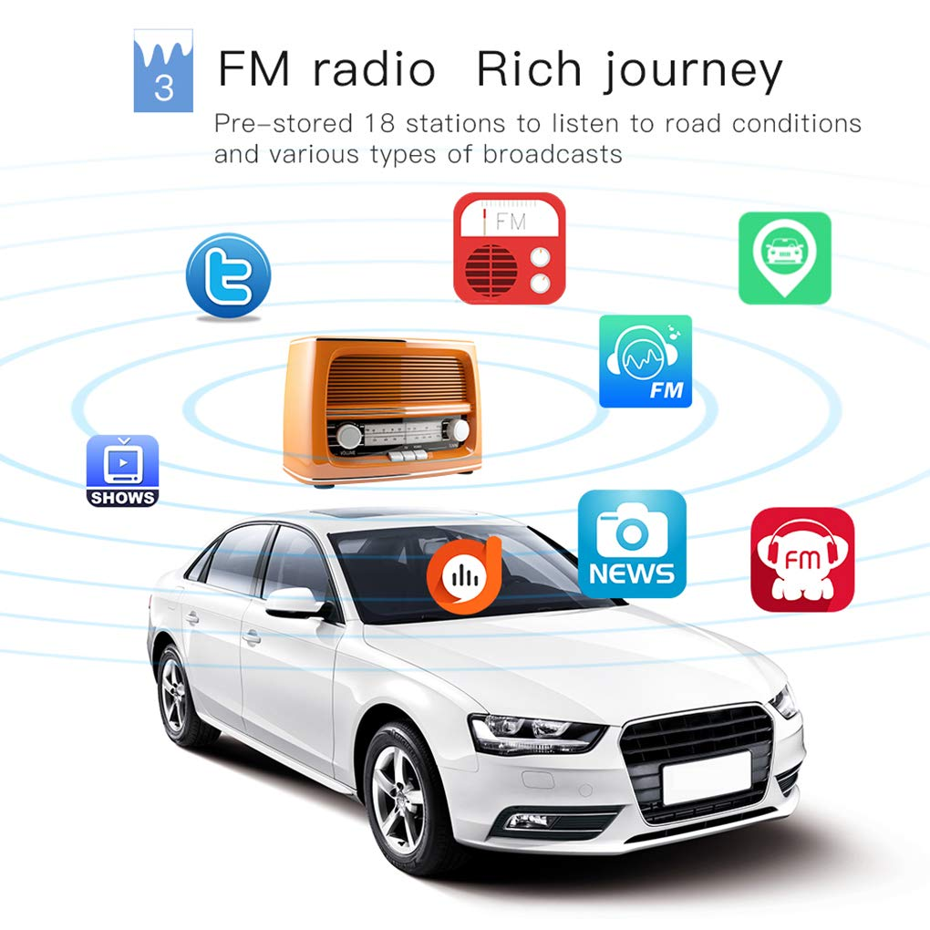 12V Voiture modifiée de Style rétro Bluetooth FM Radio