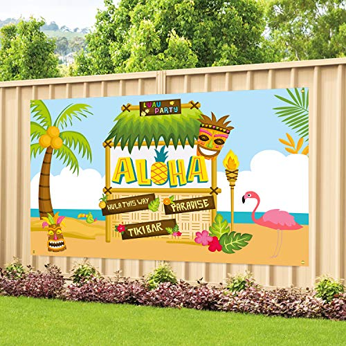 Large Fabric Aloha Party Banner 72
