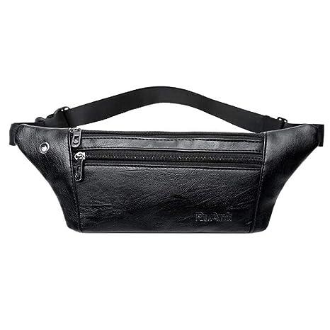 c4d1354cabec Amazon.com: Carriemeow Waist Bag West Pouch Pocket Many Men's PU ...