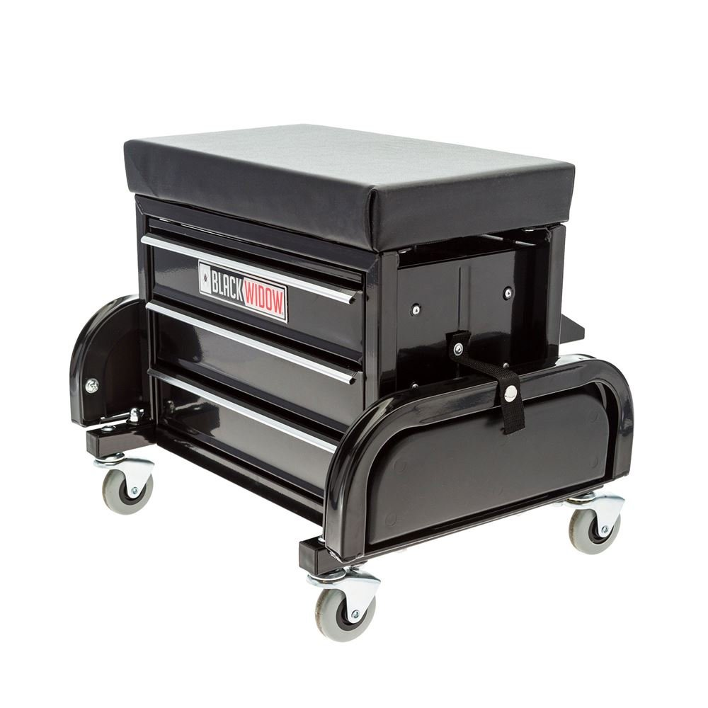Black Widow TB Creeper Seat with Drawers by Black Widow