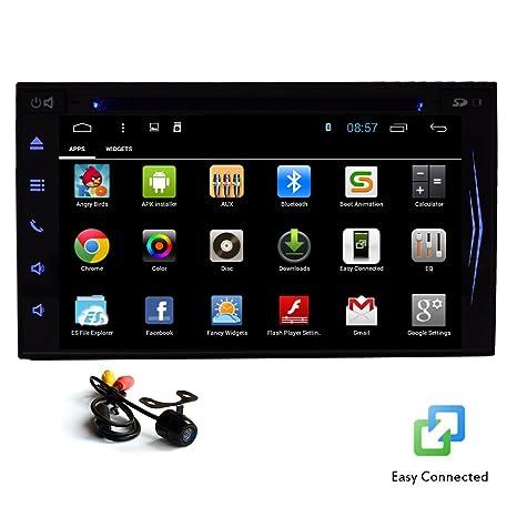GPS para Android 4.4 pantalla táctil capacitiva Autoradio FM AM Doble Din monitor del coche DVD