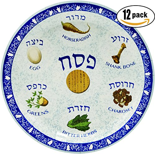 Passover Seder Plate Design Paper Goods Party Set (Seder Plate Design 7