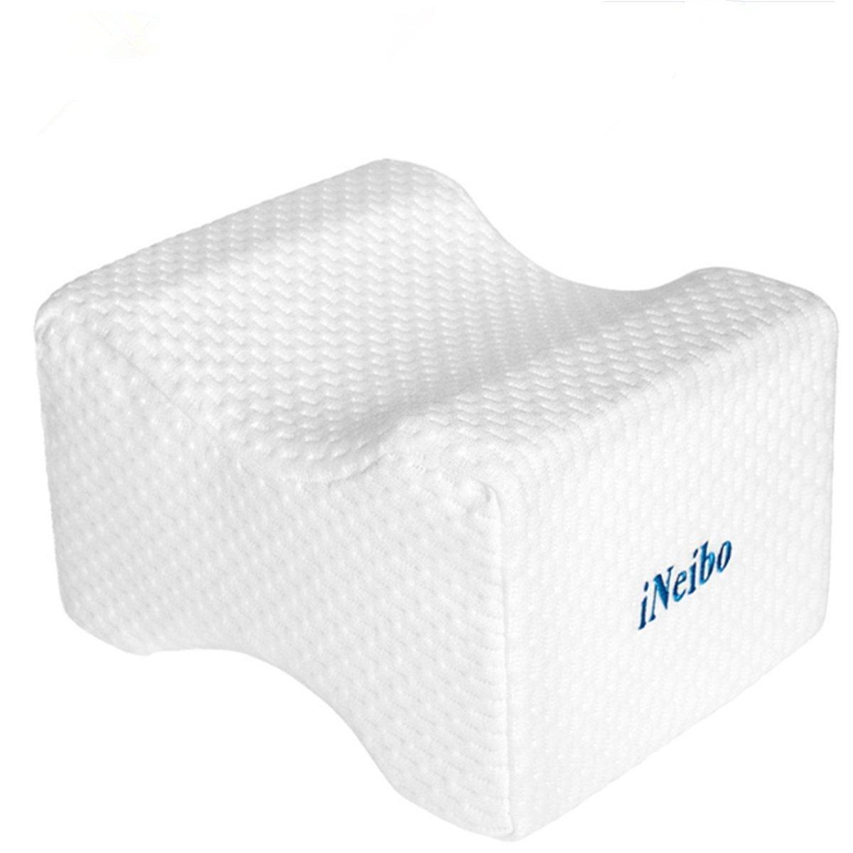 iNeibo Pain Relief Knee Leg Rest Pillow High Density Memory Foam Breathable Bamboo Fiber Hidden Zipper Washable Cover for Chronic Hip Joint Back Nerve Sciatica Pregnancy-Improve Sleeping iNeibo-33326169